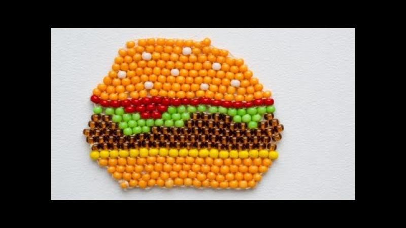 Бургер Из Бисера В Технике Кирпичное Плетение / Bead Burger. Brick Stitch.