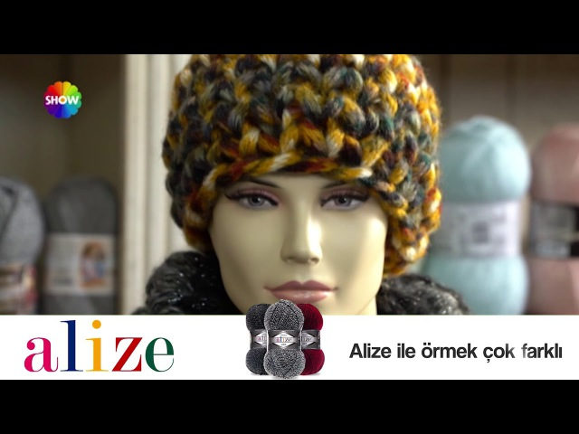 Alize Country ile Bere Boyunluk Yapımı Making Knitting Cowl and Hat with Alize Country