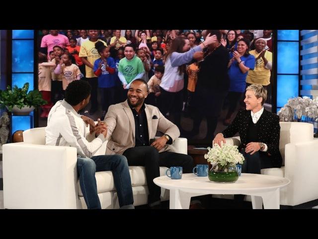 Chadwick Boseman and Ellen Surprise 'Black Panther' Fundraiser Frederick Josephs