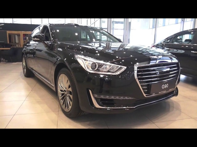 2018 Genesis G90 3.3 T-GDI. HTRAC. Engine and In Depth Tour.