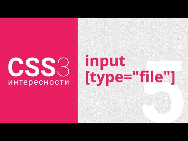 CSS3: стилизация input [type=