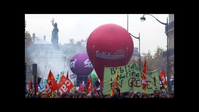 LIVE - Anti-Macron-Demonstranten marschieren auf dem Elysee-Palast