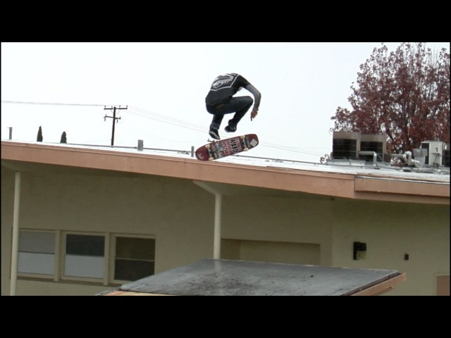 Cody McEntire Nollie Big Heel Roof to Roof in The Rain Raw Cut