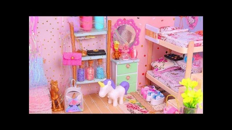6 DIY Miniature Dollhouse Rooms Bathroom Unicorn Nursery etc