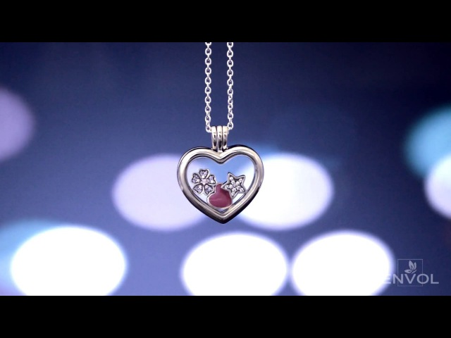 Розовое цветочное сердце (Медальон Пандора) - ENVOL