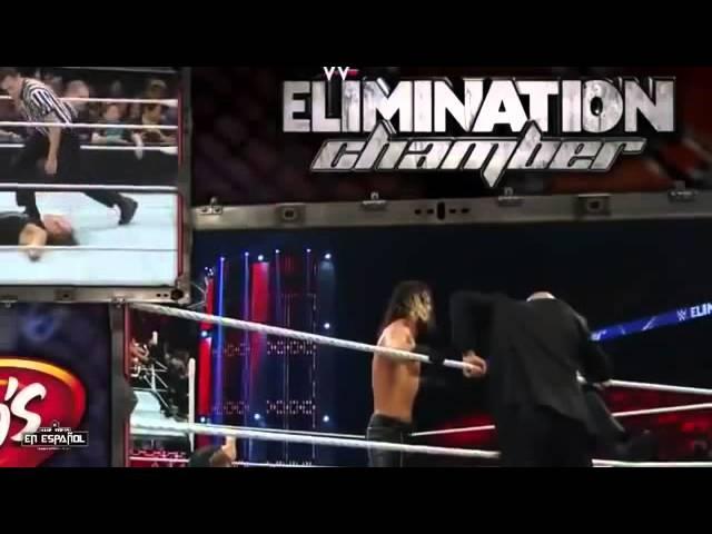 Seth rollins vs dean ambrose elimination chamber 2015