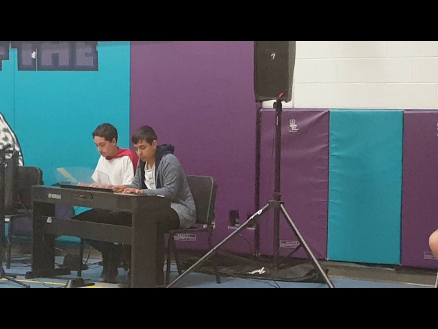 Spider Dance Piano Duet at School Talent Show (Frank and Zach Piano Duets cover)