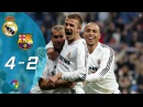 Real Madrid vs Barcelona 4-2 | Highlights | 2004/05 | La Liga