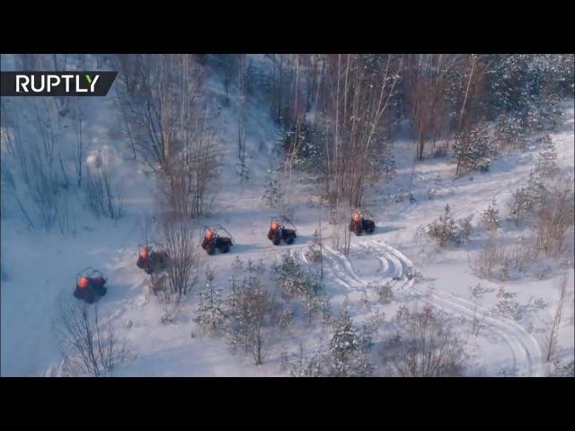 Особенности национального биатлона: в Белоруссии прошли гонки на тракторах