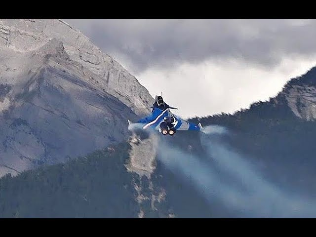 Rafale Display in the Stunning Switzerland Mountains Sion Airshow