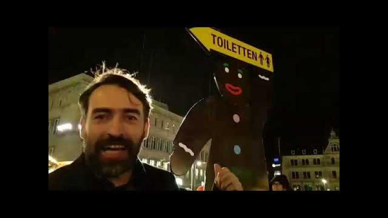 Ey Karamba - Sven Liebich trifft schwarzen Kumpel auf dem Weihnachtsmarkt