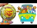 Новинка Чупа Чупс Скуби Ду Игрушки в шоколадных шарах Chupa Chups по мультику Scooby Doo