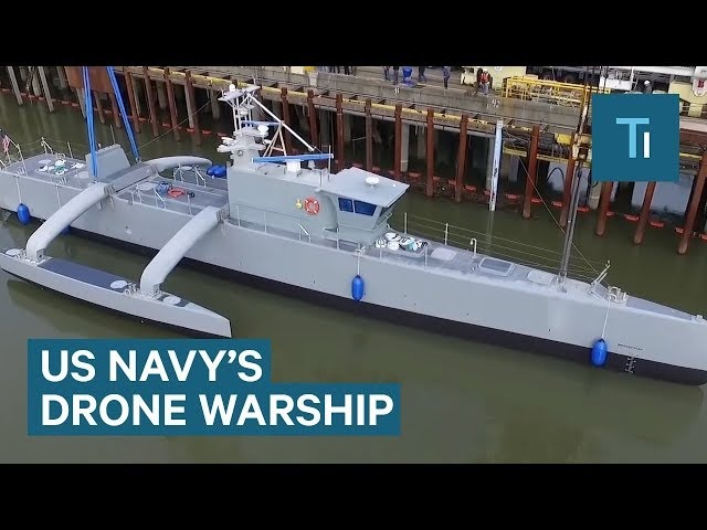 The US Navy's new drone warship can drive itself as it hunts submarines