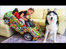 Bad Kid learn colors with Real food vs candy food/ nursery rhymes for kids songs Transform Magiс Car