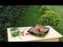 Стейк на мангале Шашлык свиной грибной овощной