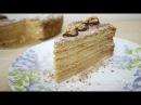 Торт Медовик Рыжик с заварным кремом