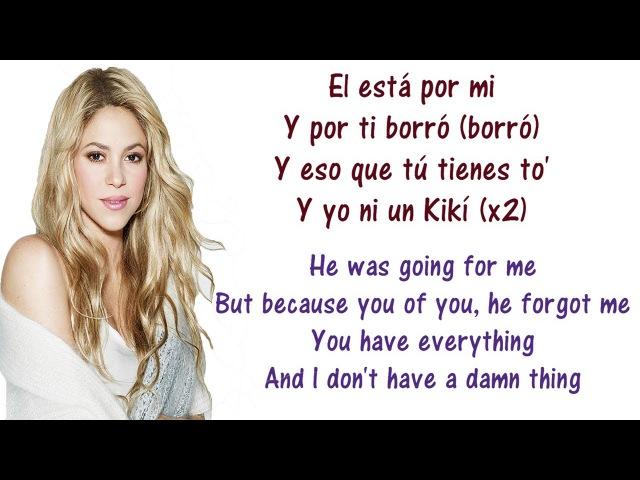 Shakira - Loca Spanish Version ft El Cata Lyrics English and Spanish - Translation Meaning