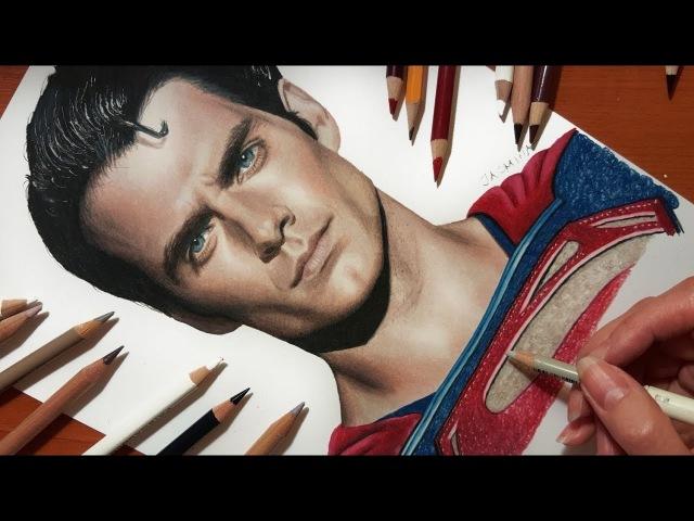 Speed Drawing: Henry Cavill's Superman   Jasmina Susak