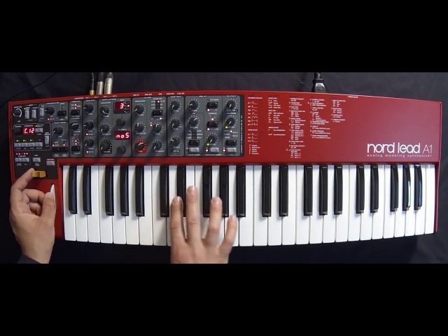 Clavia Nord Lead a1 Synth jamming on presets part 1 ( Space4Keys Keyboard Solo )