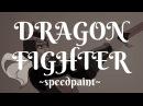 GLOWING 100 DEGREE KNIFE vs DRAGON DRAGON FIGHTER Speedpaint BingoPrometheus