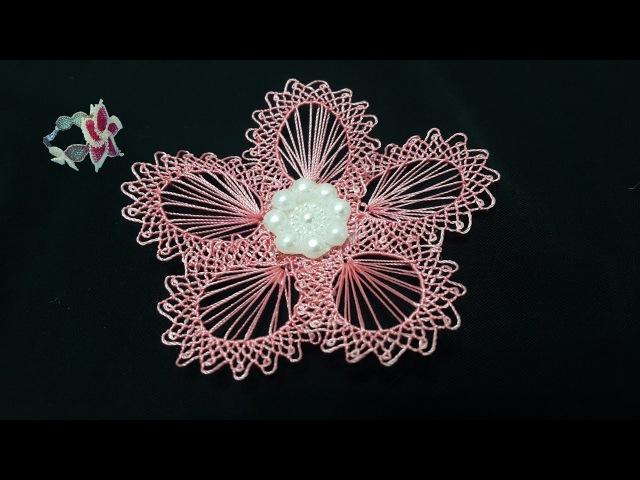 Yapımı farklı iğne oyası | interesting technique |embroidery thread
