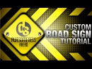 Gimp make a custom road sign tutorial