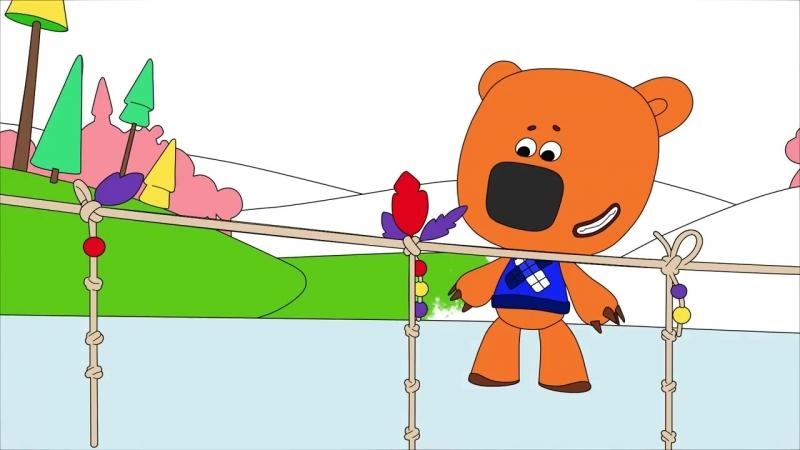 Раскраска с Ми-ми-мишками - Серия 5 - Напоминалка - Учим цвета с малышами