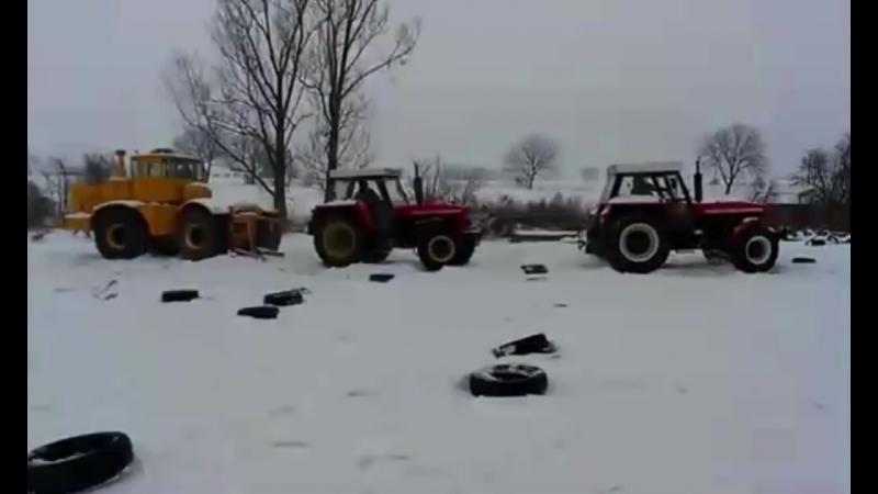 Трактор монстр Кировец К-700, К-701 зверская мощь