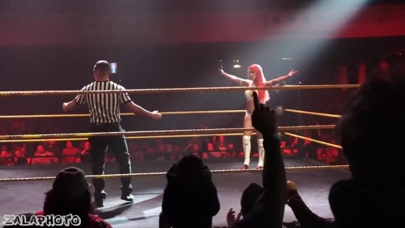 Asuka vs Eva Marie NXT Live Philly 2_18_16 [HD 1080_60fps]