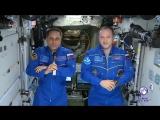 Космонавты с орбиты поздравили россиян с Днем защитника Отечества