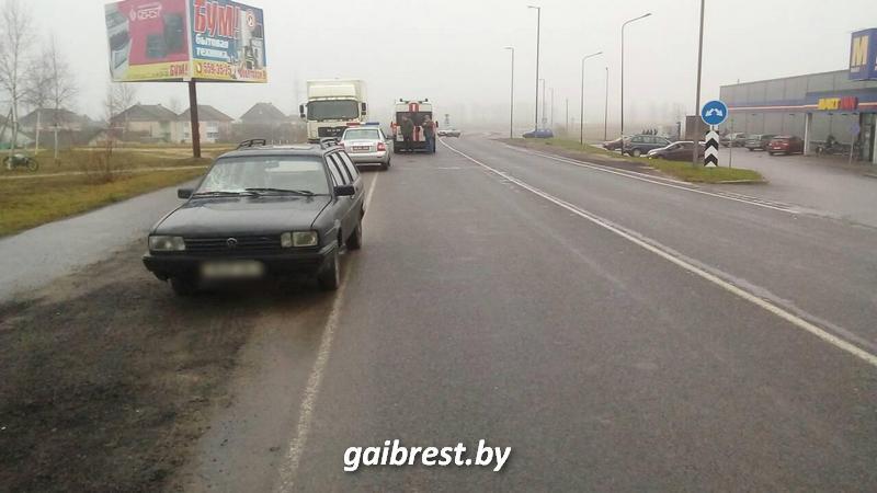 В Ивацевичском районе в результате наезда пострадала пенсионерка