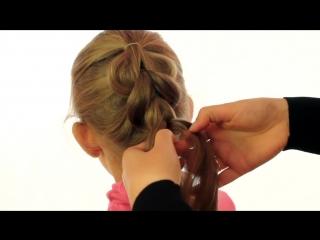 Французская коса без плетения_Детская прическа_ Imitation French braids _ Childr (1)