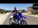 Girl and moto