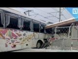 Поезд снёс автобус в Ленобласти