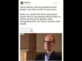 Oprah Says White People Just Have To Die