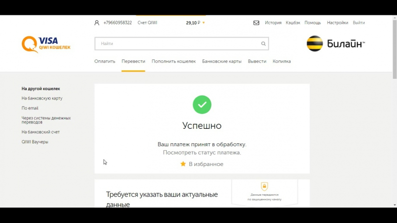 Перевод Илье 88 000 руб