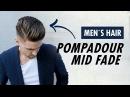 Pompadour Mid Fade Undercut for men barber style - Men's hair Summer trends