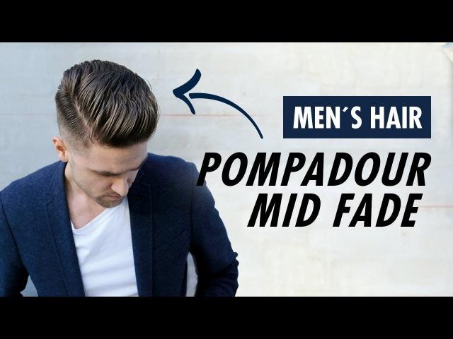 Pompadour Mid Fade Undercut for men barber style - Summer trends Slikhaar TV