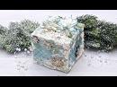Mixmedia zimowe pudełko tutuorial DIY