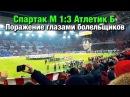 Спартак М 1 3 Атлетик Б Поражение глазами болельщиков 15 02 2018