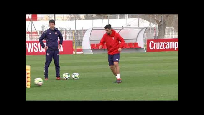 Nolito avanza en su recuperación. Sevilla FC. 14/02/18