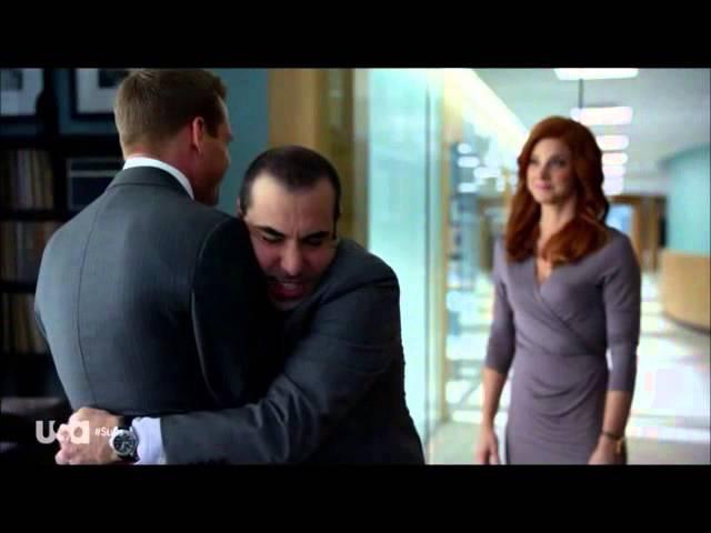 Harvey And Louis, Awkward Hug Suits