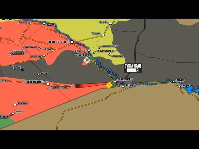 13 ноября 2017. Военная обстановка в Сирии. Контратака ИГИЛ у границы с Ираком, угро ...