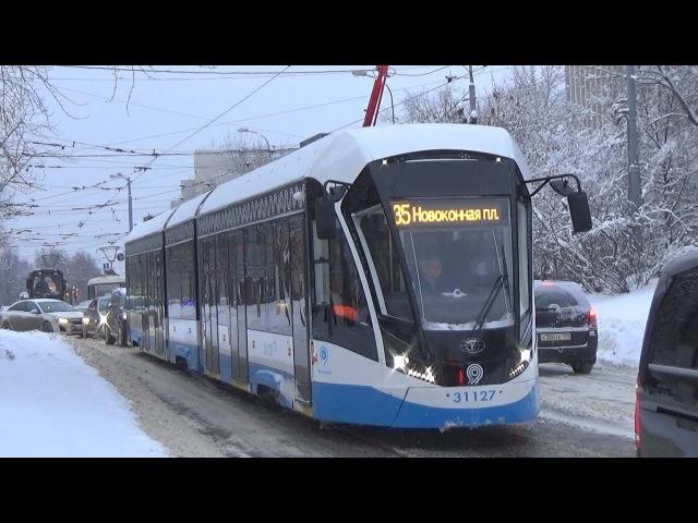 Поездка на трамвае 71-931М Витязь-М от Серпуховской Заставы до метро Пролетарская!