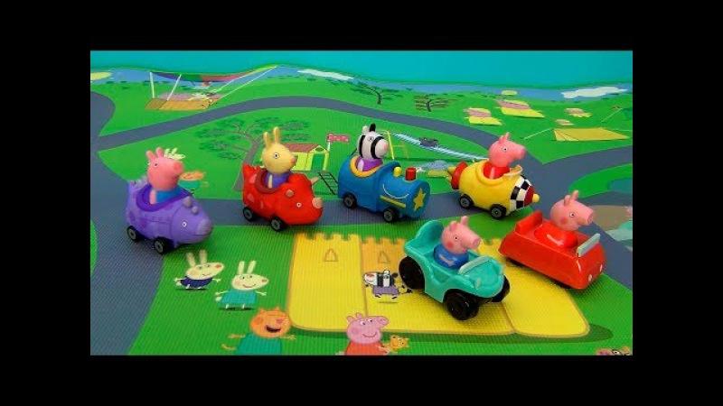 Peppa Pig in italiano. Nuovo giocattolo Mega Tappeto Peppa Pig e fratello George. Buggies Peppa Pig