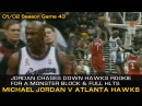 Michael Jordan Chases Down Dermarr Johnson For A Monster Block! Haws @ Wizards (02.01.2002)