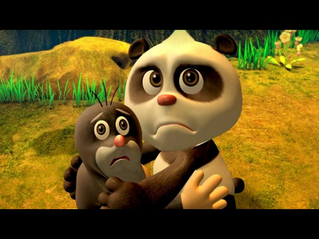 Кротик и Панда - все серии сразу - сборник 6-10 - развивающий мультфильм для детей