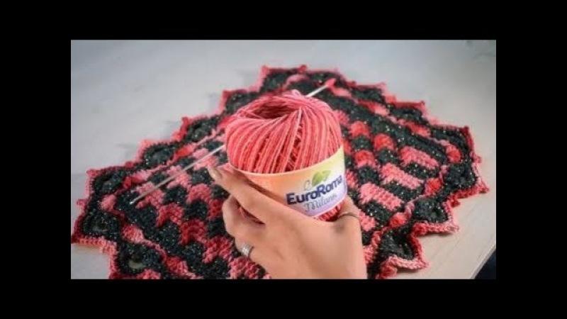 Crochetando com EuroRoma e Sandra Brum - Jogo Americano Tunisiano | Parte 1