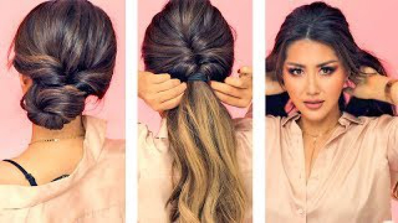 ★ 1-MIN EVERYDAY HAIRSTYLES for WORK! 💗 WITH PUFF 💗 EASY BRAIDS UPDO for Long 💗 Medium HAIR