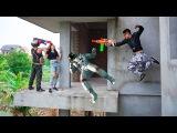 Superhero action Infantry Nerf guns Mercenary &amp Zombie Rescue petty girl Nerf war